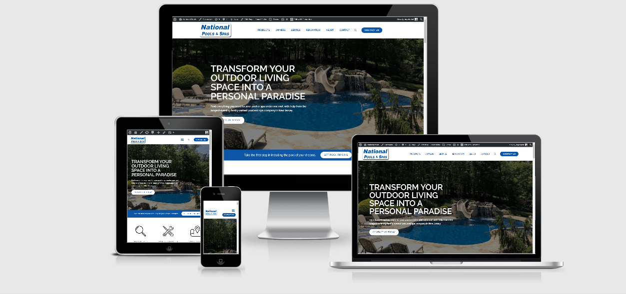 national pools and spas website