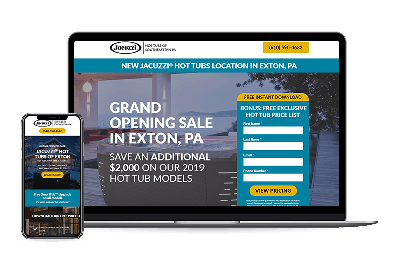 grand opening responsive