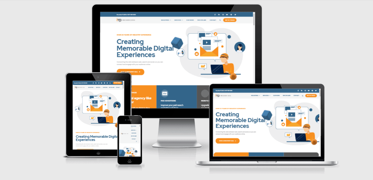 IMP Digital Marketing website from a range of devices.