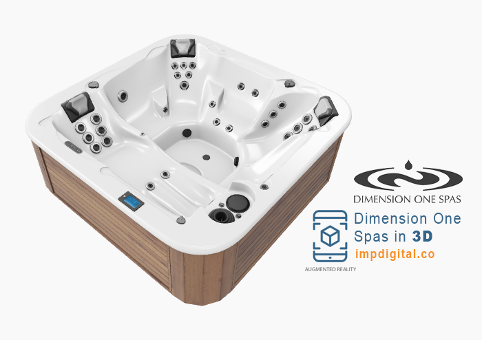 Dimension One Spas in 3D by IMP Digital - Ontario #1 Hot Tubs & Spas Websites Developers
